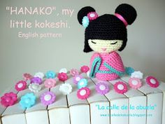 "La calle de la abuela: ""Hanako"", my little kokeshi. English amigurumi pattern"