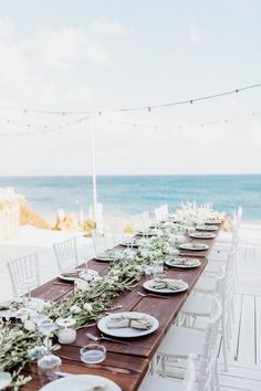 Secluded Beach Wedding at Villa Seven in Rhodes, Greece – wedding centerpieces Beach Wedding Reception, Beach Wedding Photos, Beach Ceremony, Wedding Dinner, Seaside Wedding, Rustic Beach Weddings, Cancun Wedding, Garden Weddings, Spring Weddings