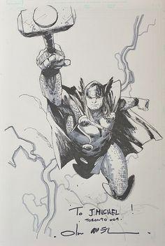 copiel thor | Thor by Olivier Coipel, in Jean-Michel Anneau's Olivier Coipel Comic ...