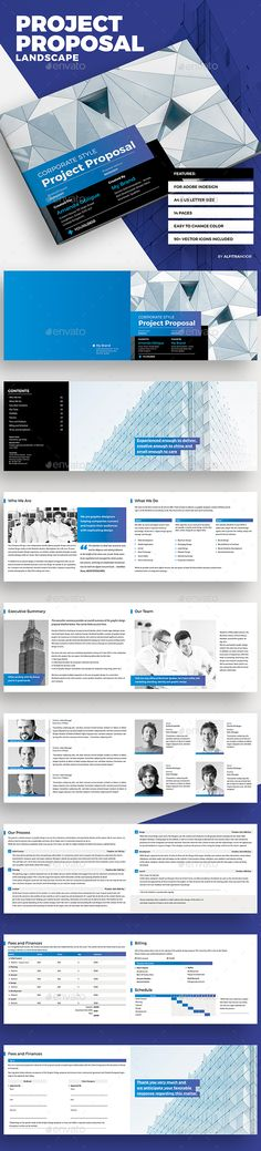 Project Proposal Template Design This Proposal Is Made In Indesign