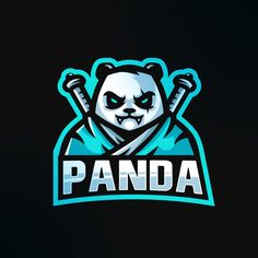 Panda samurai with katana sword logo gaming esport mascot logo Vector Logo Gaming, Sword Logo, Game Logo Design, Esports Logo, Katana Swords, E Sport, Photography Logo Design, How To Make Logo, Professional Logo Design