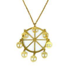 Ferris Wheel Brass Necklace