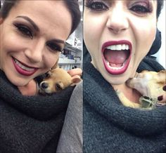 This is AWESOME & SO Cute; Lana Parilla & pup.