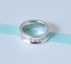 b0f5a7217 Tiffany & Co Size 6.5 Sterling Silver 1837 Concave Ring Band with Pouch  #TiffanyCo