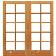aaw inc mahogany double interior french doors pair of mahogany with choice of glass - French Doors Interior