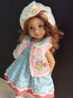 """Outfit for Effner doll Little Darling 13"""" 3pc."""