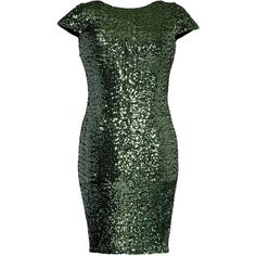 Rental Badgley Mischka Forest Sheath ($75) ❤ liked on Polyvore featuring plus size fashion, plus size clothing, plus size dresses, dresses, green, sequin sheath dress, fitted dresses, cowl back dress, boat neck dress and sequin dress