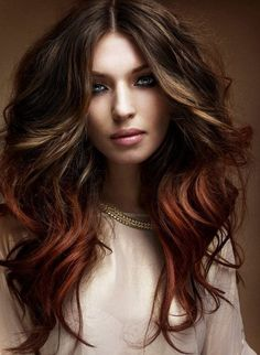 Chocolate brown hair coloring ideas for women for new look . Try these stylish chocolate brown hair colors that you will love a lot. Hot Hair Colors, Ombre Hair Color, Brown Hair Colors, Red Ombre, Auburn Ombre, Dark Ombre, Brunette Ombre, Auburn Hair, Ombre Brown