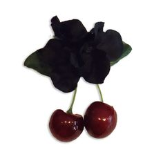 Tiki Pinup Cherries - Black