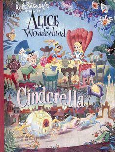 Vintage Disney Alice in Wonderland: Alice and Cinderella Book by Collins of England