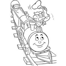 Free Printable Smiling Toy Train Coloring Pages
