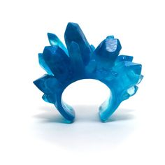 Mega Crystal Cuff (Deep Blue) by Kate Rohde