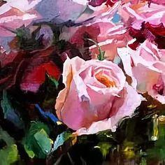 розы маслом на холсте: 12 тыс изображений найдено в Яндекс.Картинках
