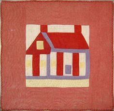 pieced crib quilt, ca. 1900