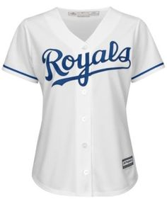 Majestic Women's Kansas City Royals Cool Base Jersey - White XXL