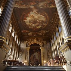 """@interiors_with_history στο Instagram;The Painted Hall at the Old Royal Naval College, Greenwich, #London,#UK """"The Painted Hall at the…"""""""
