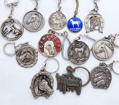 Rare French Horse Keychain Keyring / Lot of 12 by GrandpasMarket