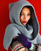 Would love to wear this a cold day! Ravelry: Hood pattern