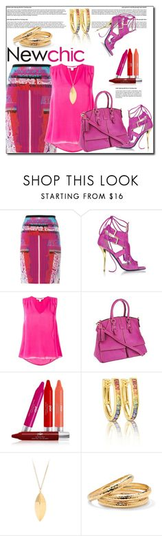 """""""New Chic"""" by helenaymangual ❤ liked on Polyvore featuring Peter Pilotto, Patrizia Pepe, Diane Von Furstenberg, Dooney & Bourke, PUR, gorjana & griffin and Palm Beach Jewelry"""