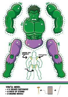 Hulk jumping jack template