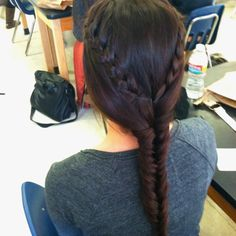 French braid to fish tail