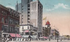 Broad Street in Downtown Newark, NJ, circa 1920. Discover more history @ www.thehistorygirl.com