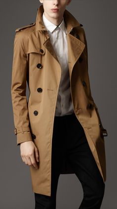 burberry trench coat men | Burberry London men's cotton twill trench coat | Men's Fashion