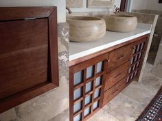 Travertine & Copper - Bathroom Sinks and Vanities: Beautiful Ideas From Rate My Space on HGTV