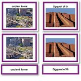 Montessori 123 - Historical Three Part Cards with Photos for Archaeology Studies - Montessori Materials