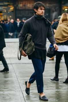 Tommy Ton in Milan: Street Style at the Fall '15 Men's Shows