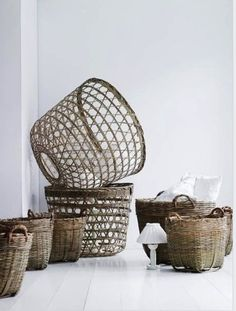 Baskets..now to find one I love to put a little olive tree in, for my entry.
