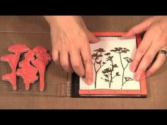 Double Embossing using a MISTI - YouTube