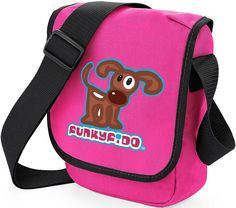 Funky Fido Girls Brown and White Staffie Dog Cross Body Shoulder Bag
