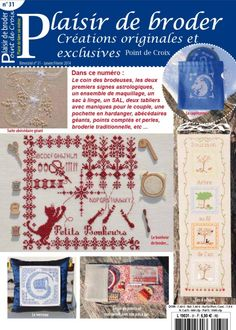 Gallery.ru / Фото #1 - Plaisir de broder Point de Croix №31 2014 - NINULYKA Magazine Cross, Cross Stitch Books, Le Point, Couture, Blackwork, Needlework, Creations, Embroidery, Pattern
