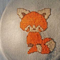 Red Panda Cross Stitch Pattern. $3.50, via Etsy.