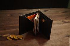 Купить Зажим для купюр - черный, кошелек, портмоне мужской, портмоне, ручная работа