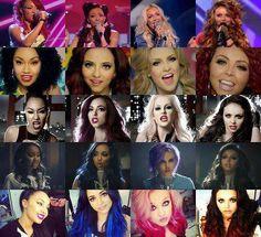 Little Mix hair evolution