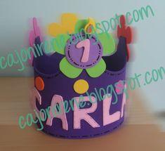 """El cajón de Irene: Goma eva: """"Coronas de cumpleaños"""""""