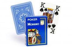 Cartes Modiano 4 index (bleu clair) - Pokeo.fr - Jeu de 52 cartes Modiano 100% plastique 4 index de couleur bleue clair.