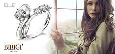 #Bibigi | Collezione #Elle | Gioielli in oro bianco e diamanti.