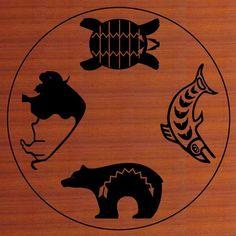 native american symboles buffalo bear turtle salmon