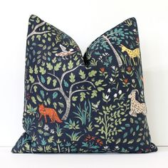 Flora and Fauna Decorative Designer Pillow Cover by WhitlockandCo