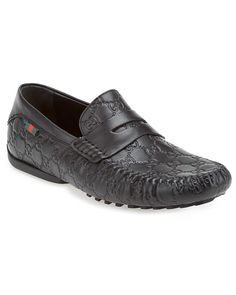 Gucci Guccissima Leather Penny Loafer Driver  Men #Shoes