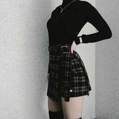 New korean fashion outfits. Edgy Outfits, Mode Outfits, Grunge Outfits, Cute Casual Outfits, Skirt Outfits, Dress Casual, Hipster Outfits, Teen Fashion Outfits, Egirl Fashion