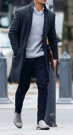 Stylish Mens Outfits, Casual Fall Outfits, Men Casual, Best Winter Outfits Men, Mantel Trenchcoat, Outfit Zusammenstellen, Herren Outfit, Gentleman Style, Gentleman Fashion
