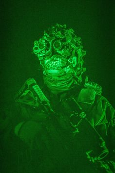 Soldier from Telemark battalion, with night vision goggles