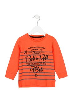 Orange single jersey t-shirt with print. Quality fashion at a good price. Get inspired by the latest trends in Losan. Men Design, Boys T Shirts, Printed Shirts, Festive, Kids Fashion, Baby Boy, Crop Tops, Suits, Bebe