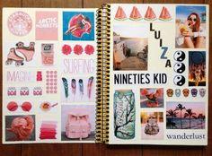 Separa tus meses con collages de las metas que quieres alcanzar o de los temas más importantes del mes