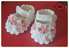Baby booties, mary jane, Crochetkowo