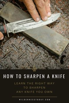Learn how to sharpen knife the right way by checking out our guide. Discover the correct way to sharpen survival or pocket knife, even in the field.